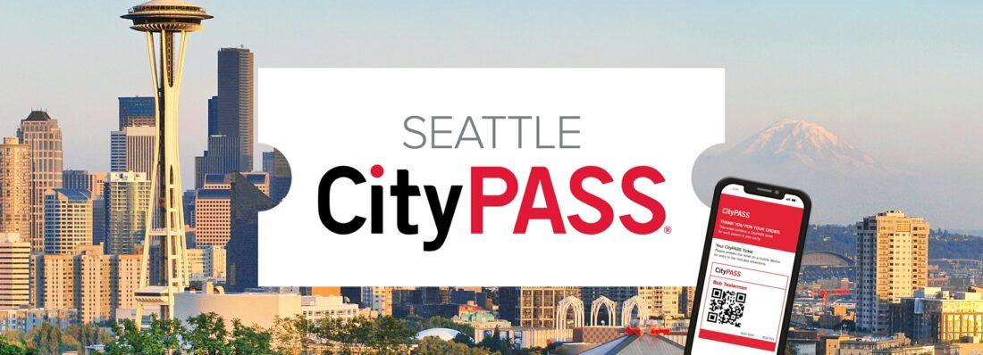 seattle citypass text over skyline