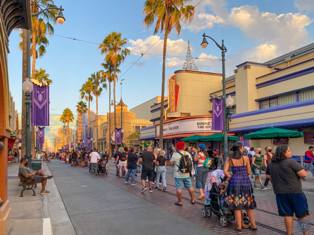 long lines for treat trails in hollywood land