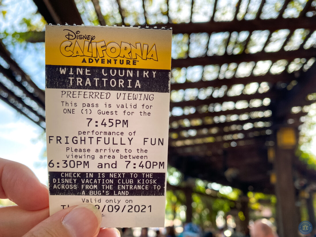 wine country trattoria parade viewing ticket