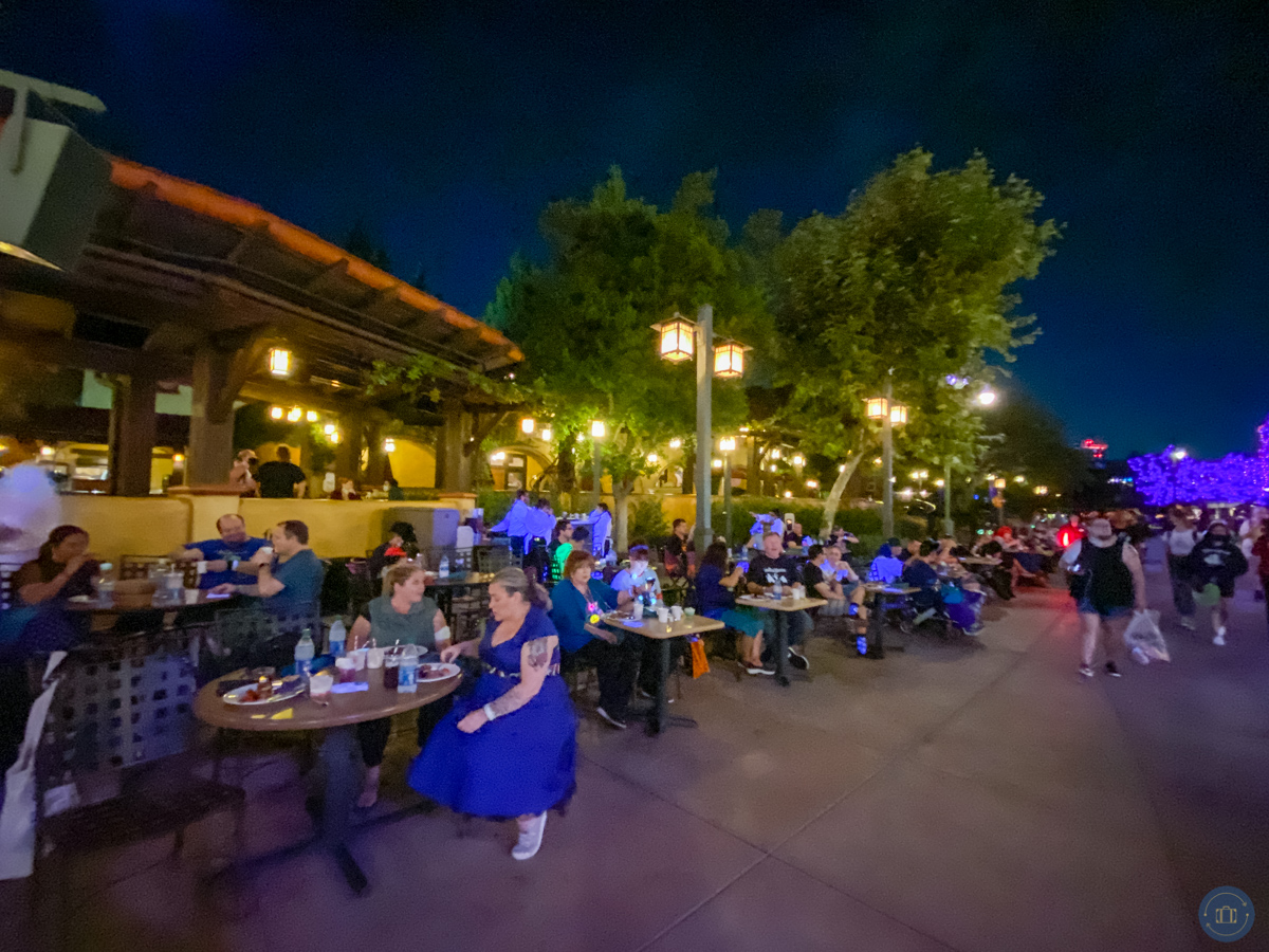 oogie boogie bash parade seating at sonoma terrace dessert dining package