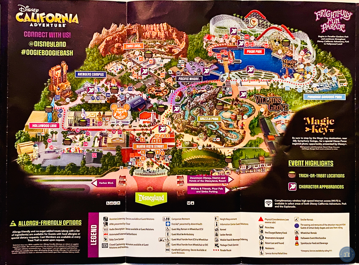 oogie boogie bash halloween party map