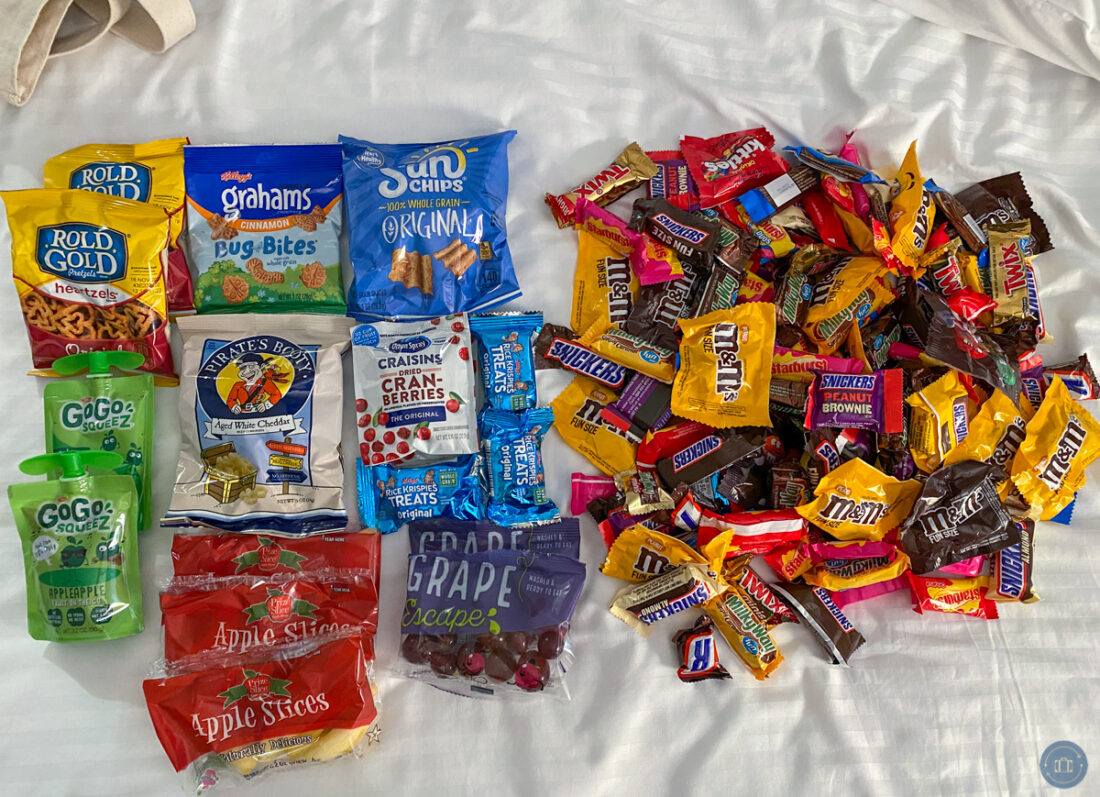 candy and snacks from oogie boogie bash halloween party